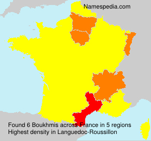 Surname Boukhmis in France