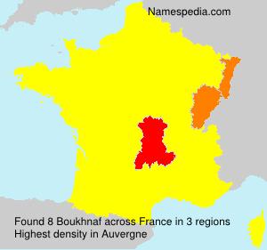 Surname Boukhnaf in France