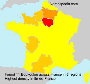 Surname Boukoulou in France