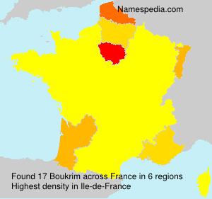 Surname Boukrim in France