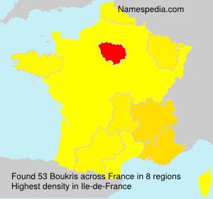 Familiennamen Boukris - France