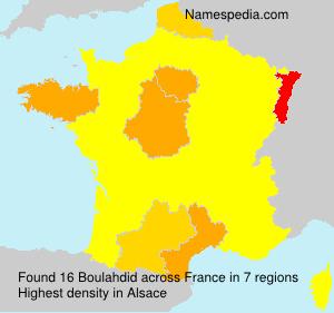 Familiennamen Boulahdid - France