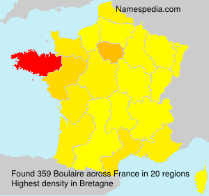 Surname Boulaire in France