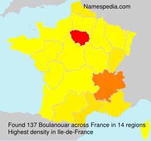 Surname Boulanouar in France