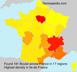 Surname Boulat in France