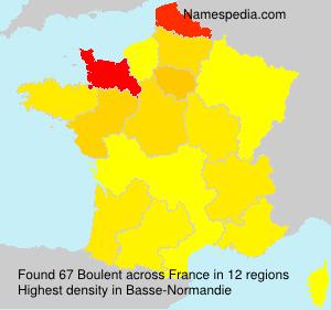 Surname Boulent in France