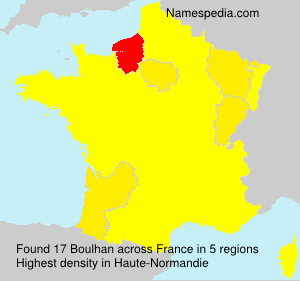 Surname Boulhan in France