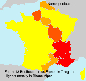 Surname Boulhout in France