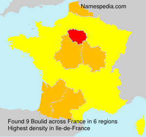 Surname Boulid in France
