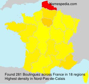 Surname Boulinguez in France