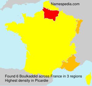 Surname Boulkaddid in France