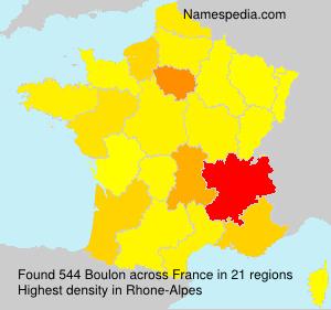 Familiennamen Boulon - France