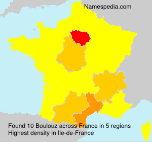 Surname Boulouz in France