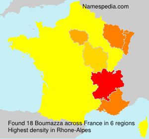 Surname Boumazza in France