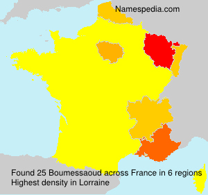 Surname Boumessaoud in France