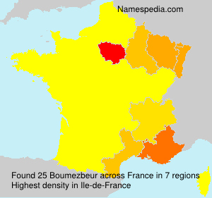 Surname Boumezbeur in France