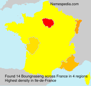 Surname Boungnaseng in France