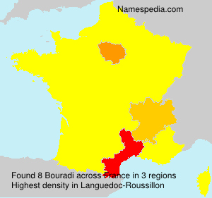 Surname Bouradi in France