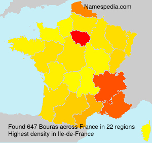 Surname Bouras in France