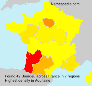 Surname Bourdeu in France