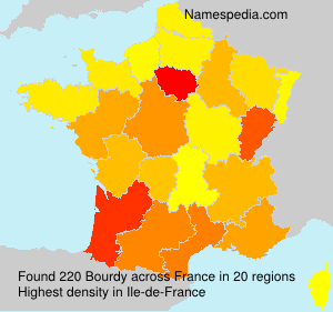 Surname Bourdy in France