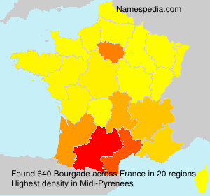 Surname Bourgade in France