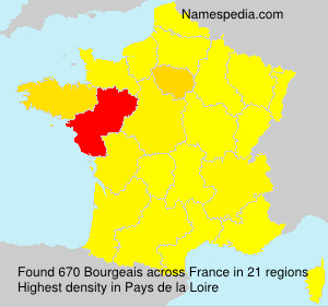 Surname Bourgeais in France