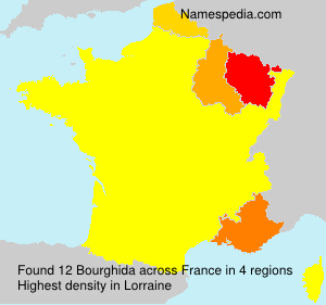 Surname Bourghida in France