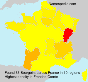 Surname Bourgoint in France
