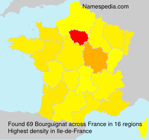 Surname Bourguignat in France