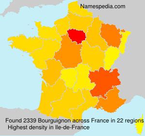 Familiennamen Bourguignon - France