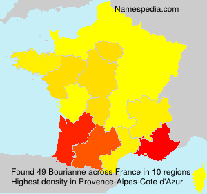 Surname Bourianne in France