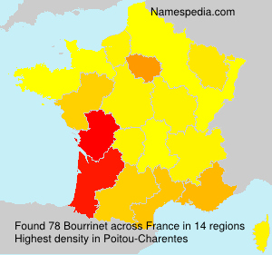 Surname Bourrinet in France