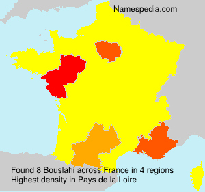 Surname Bouslahi in France
