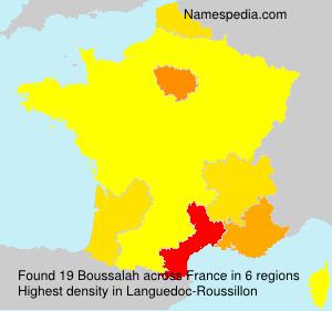Familiennamen Boussalah - France