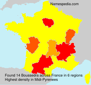 Surname Boussedra in France