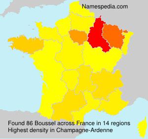 Surname Boussel in France