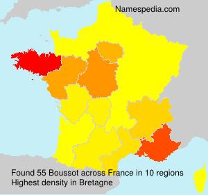 Surname Boussot in France