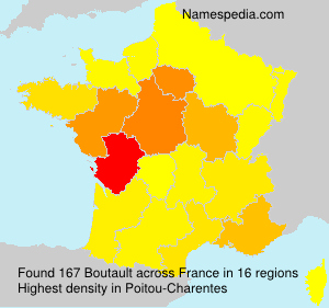 Surname Boutault in France