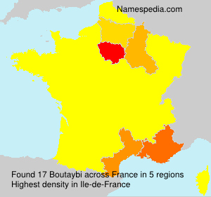 Surname Boutaybi in France