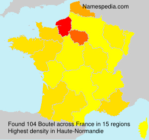 Surname Boutel in France