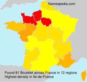 Surname Boutelet in France