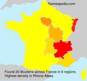 Surname Bouterra in France