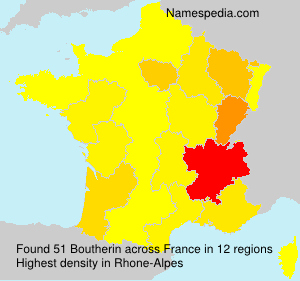 Surname Boutherin in France