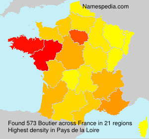 Surname Boutier in France