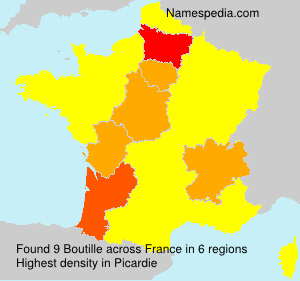 Surname Boutille in France