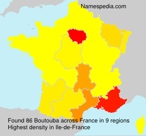 Surname Boutouba in France