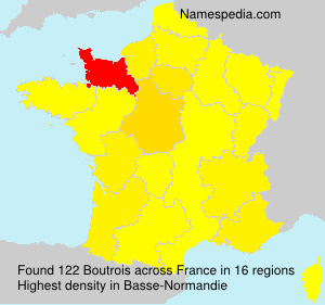 Surname Boutrois in France