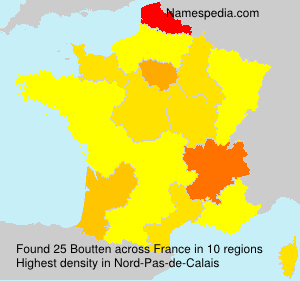 Surname Boutten in France