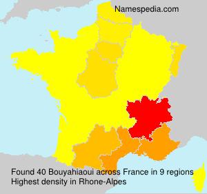 Surname Bouyahiaoui in France